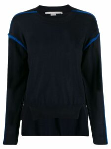 Stella McCartney contrast-seam high-low sweater - Blue