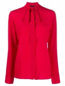 Haider Ackermann neck-tie blouse - Red