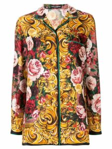 Dolce & Gabbana baroque and floral print shirt - Yellow