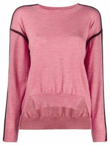 Stella McCartney contrast-seam high-low sweater - PINK