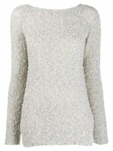 Snobby Sheep round-neck knit sweater - Grey