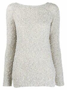 Snobby Sheep round-neck knit sweater - Grey