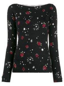 LIU JO rose knit jumper - Black