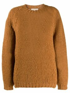 Vanessa Bruno cable knit jumper - ORANGE