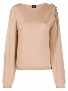 LIU JO metallic ball jumper - NEUTRALS