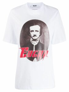 MSGM Edgar Allen Poe-print T-shirt - White