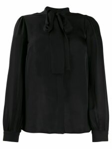 Michael Kors Collection silk pussybow blouse - Black