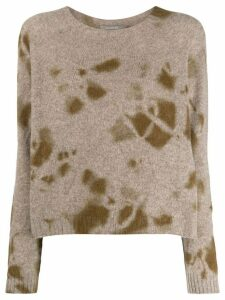 Suzusan relaxed-fit cashmere jumper - Brown