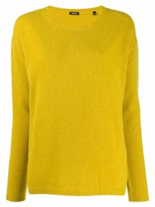 Aspesi round-neck knit sweater - Yellow
