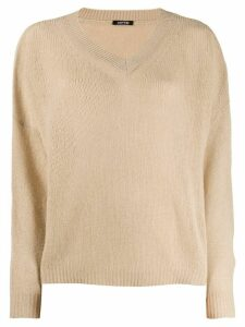 Aspesi oversized knit sweater - NEUTRALS