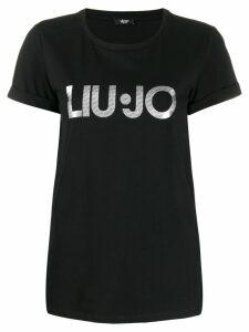LIU JO logo print T-shirt - Black