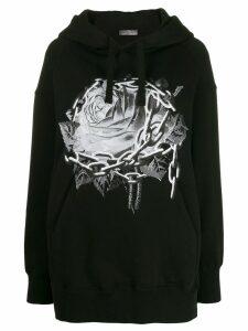 Valentino x Undercover Chain Rose hoodie - Black
