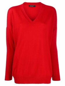 Aragona fine knit jumper - Red