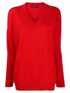 Aragona fine knit jumper - Red