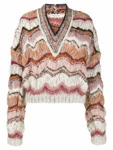 Oneonone striped knitted jumper - Pink