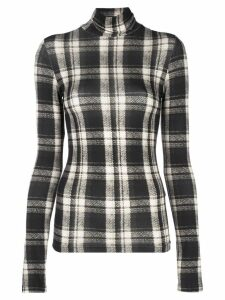 R13 plaid roll-neck jumper - Black