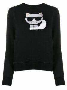 Karl Lagerfeld Choupette print sweatshirt - Black