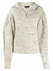 Isabel Marant front zip sweater - Neutrals