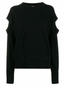 Diesel cut-out detail sweater - Black