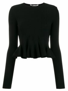 Stella McCartney cropped peplum top - Black