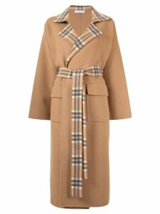 Rejina Pyo Meryl checked panel coat - NEUTRALS