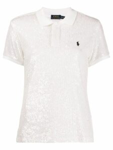 Polo Ralph Lauren sequined polo shirt - White