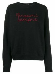 Giada Benincasa embroidered sweatshirt - Black