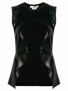 Comme Des Garçons crocodile-effect cutout top - Black