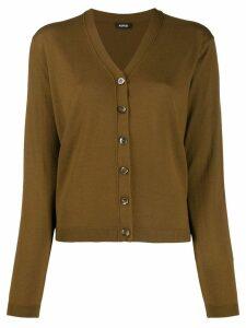 Aspesi V-neck cardigan - Brown