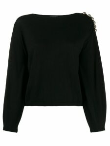 LIU JO boat neck jumper - Black
