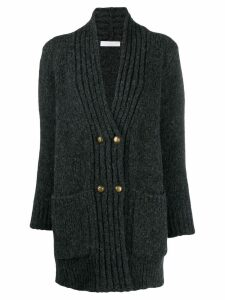 Fabiana Filippi ribbed-trim knit cardigan - Grey