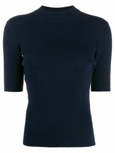 YMC short sleeved knitted top - Blue