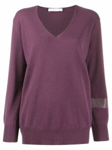 Fabiana Filippi V-neck jumper - PURPLE