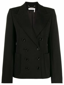 Chloé double breasted wool jacket - Black