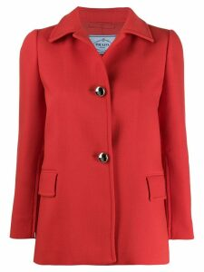Prada fitted button-up jacket - Red