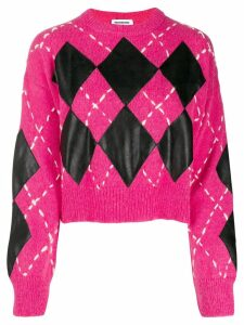Brognano cropped argyle sweater - PINK