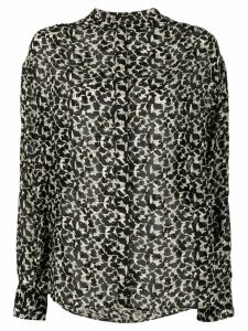 Isabel Marant metallic detail printed blouse - Black