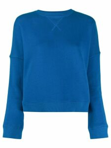 YMC cropped cotton sweater - Blue