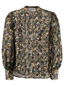 Antik Batik floral cut out blouse - Black
