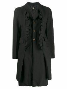 Comme Des Garçons Comme Des Garçons ruffled midi coat - Black
