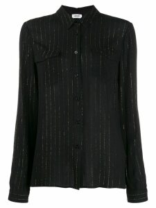 LIU JO metallic stripe shirt - Black