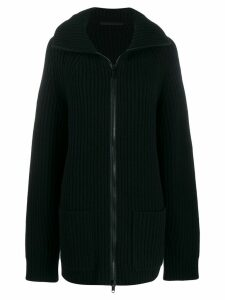 Haider Ackermann oversized zip up cardigan - Black