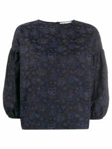 YMC floral print blouse - Blue