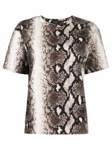 Fred Perry x Akane Utsunomiya snakeskin print T-shirt - NEUTRALS