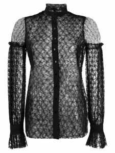 Wandering floral lace blouse - Black