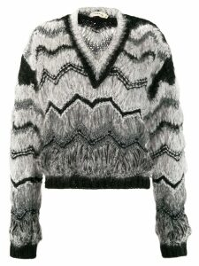 Oneonone. zigzag pattern jumper - Grey