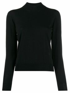 Coperni ribbed collar sweater - Black