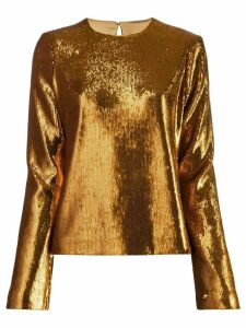Galvan sequin Clara blouse - GOLD