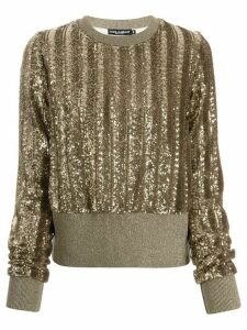 Dolce & Gabbana sequinned knitted jumper - GOLD