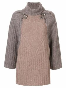Antonio Marras metallic knit roll neck jumper - Grey